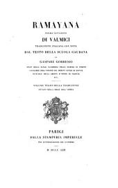 Ramayana: poema indiano di Valmici, Volume 8