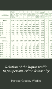Relation of the Liquor Traffic to Pauperism, Crime & Insanity