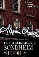 The Oxford Handbook of Sondheim Studies PDF