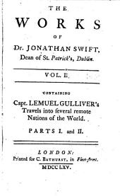The Works of Dr. Jonathan Swift ...: Accurately Revised ... Adorned with Copper-plates; with Some Account of the Author's Life, and Notes Historical and Explanatory, Volume 2