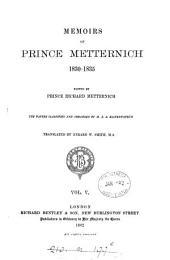 Memoirs of Prince Metternich: 1830-1835