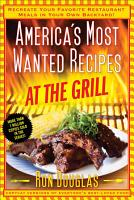 America s Most Wanted Recipes At the Grill PDF