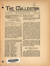 The Collector: A Monthly Magazine for Autograph and Historical Collectors, Volume 21, Issue 4
