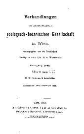 Verhandlungen der Zoologisch-Botanischen Gesellschaft in Wien: Volume38