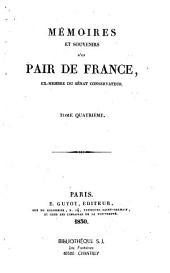 Mémoires et souvenirs d'un pair de France [le Comte J.-P. Fabre, de l'Aude]: ex-membre du Sénat conservateur, Volumes1à3