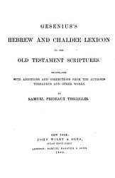 Gesenius s Hebrew and Chaldee Lexicon to the Old Testament Scriptures PDF