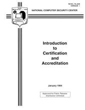 Introduction to Certification and Accreditation: Information Systems Security