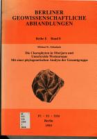 Die Charophyten in Oberjura und Unterkreide Westeuropas PDF