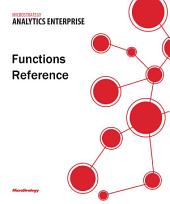Functions Reference for MicroStrategy Analytics Enterprise