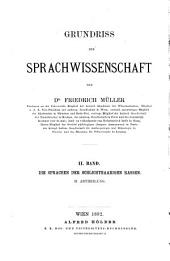 Grundriss der Sprachwissenschaft: Band 2,Teil 2