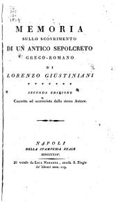 Memoria sullo scovrimento di un antico sepolcreto greco-romano