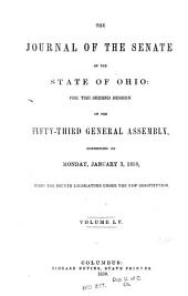 Journal of the Senate of the ... General Assembly of the State of Ohio ...: Volume 55