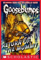 Return of the Mummy  Classic Goosebumps  18  PDF