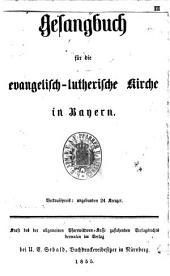 Gesangbuch für die evangelisch-lutherische Kirche in Bayern