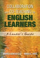 Collaboration and Co Teaching for English Learners PDF