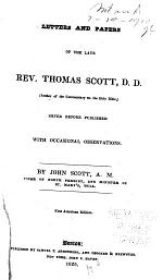 Letters and Papers of the Late Rev. Thomas Scott