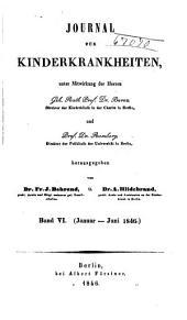 Journal für Kinderkrankheiten: Bände 6-7