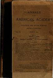 The Annals of the American Academy of Political and Social Science: Volume 3, Issue 5