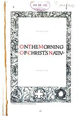 On the Morning of Christ's Nativity: An Ode