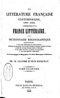 La litt  rature fran  aise contemporaine  1827  1849  PDF