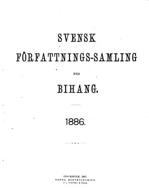 Svensk f  rfattningssamling PDF