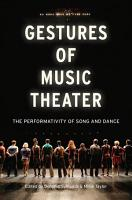 Gestures of Music Theater PDF