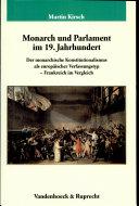 Monarch und Parlament im 19  Jahrhundert