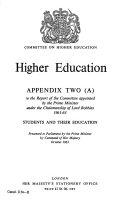 Higher Education. Appendix