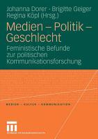 Medien   Politik   Geschlecht PDF
