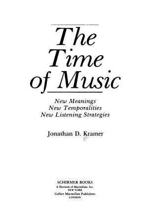 The Time of Music PDF