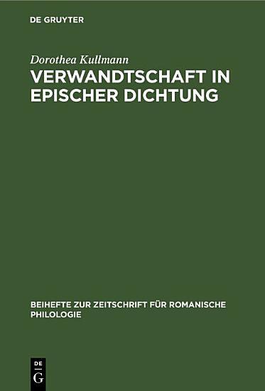 Verwandtschaft in epischer Dichtung PDF