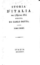 Storia d'Italia dal 1789 al 1814: Volume 1