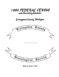 1860 Federal Census and Mortality Schedule  Livingston County  Michigan PDF