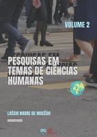 PESQUISAS EM TEMAS DE CI  NCIAS HUMANAS   VOLUME 2 PDF
