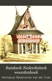 Bataksch-Nederduitsch woordenboek