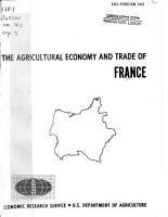 The Agricultural Economy and Trade of France PDF