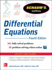 Schaum's Outline of Differential Equations, 4th Edition: Edition 4