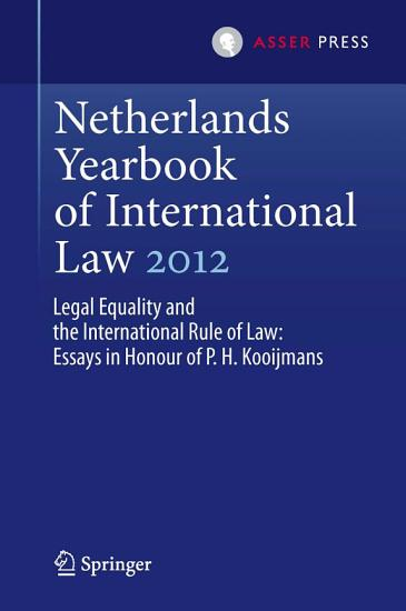 Netherlands Yearbook of International Law 2012 PDF