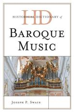 Historical Dictionary of Baroque Music PDF