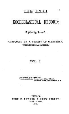 The Irish Ecclesiastical Record PDF