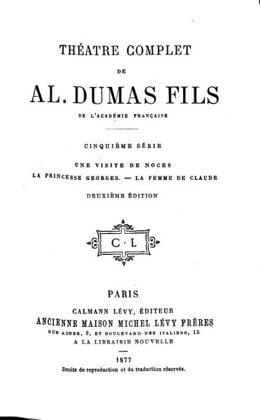 Download Th  atre Complet de Al  Dumas Fils Book