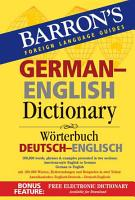 Barron s German English Dictionary PDF