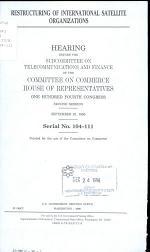 Restructuring of International Satellite Organizations