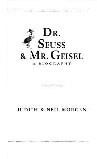 Dr  Seuss and Mr  Geisel