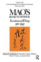 Mao s Road to Power PDF