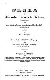 Flora: oder, Allgemeine botanische Zeitung, Band 58