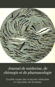 Journal de m  decine  de chirurgie et de pharmacologie PDF