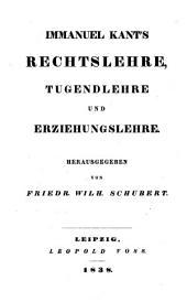 Sämmtliche Werke: Metaphysik der Sitten in zwei Theilen und Pädagogik, Band 9