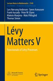 Lévy Matters V: Functionals of Lévy Processes