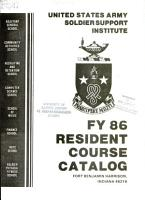 FY 86 resident course catalog PDF